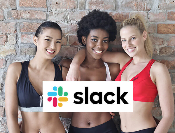 Slack promotional image with three ladies